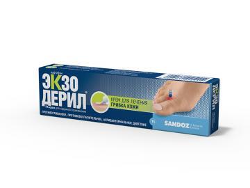 ЭКЗОДЕРИЛ Крем для наружного применения, 1% 15 г, 30г
